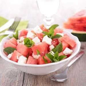 Refreshing Watermelon Fruit Salad with Mint and Feta
