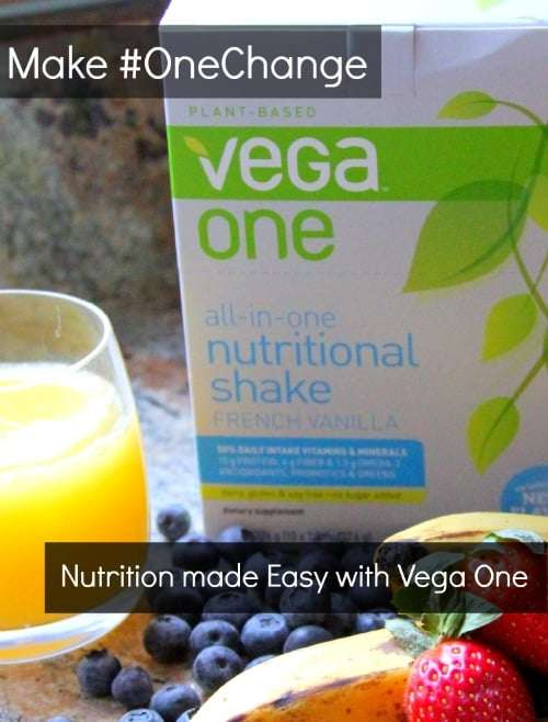 #OneChange to a healthier you from Vega One #ad