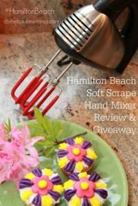 Hamilton Beach Soft Scrape Hand Mixer Review and Giveaway