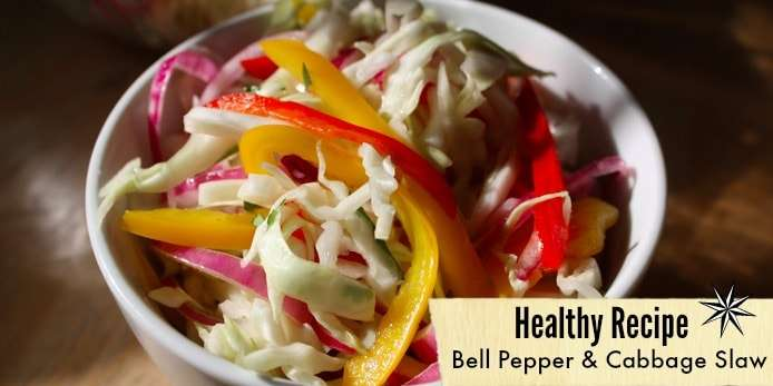 Healthy Side Dish - Bell Pepper and Cabbage Slaw