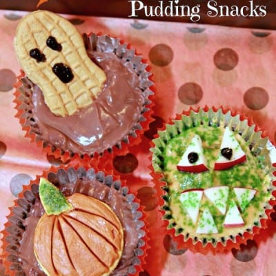 Pudding Cup Halloween Treats