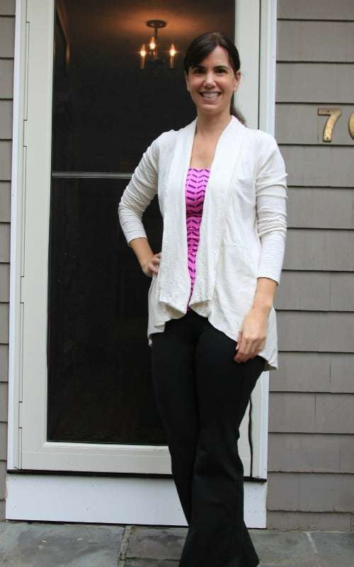 It's easy to go from workout to running errands with adding this lucy Lotus Wrap