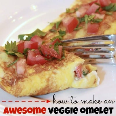 How to Make an Awesome Veggie Omelet