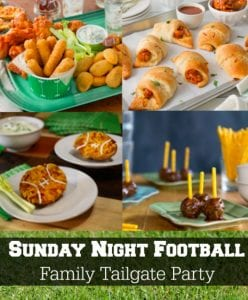 Home Tailgate Party for Sunday Night Football