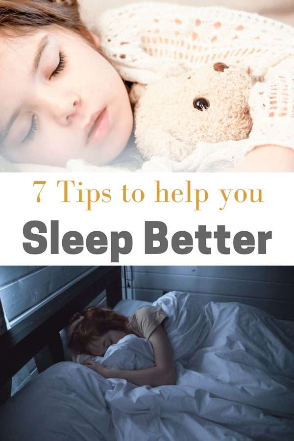Are you getting enough rest at night? Here are 7 tips to help you get a better night's sleep.