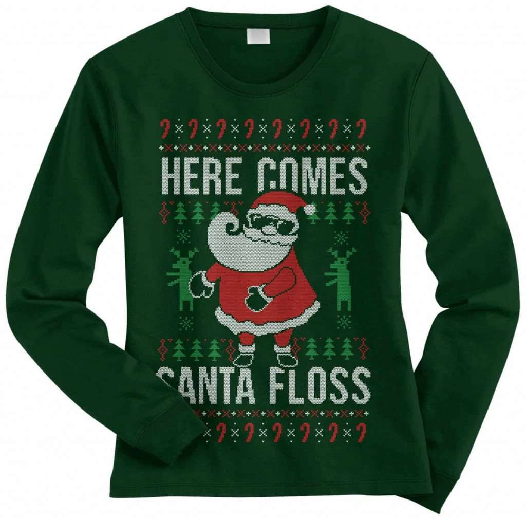 Santa Floss Ugly Christmas Sweater