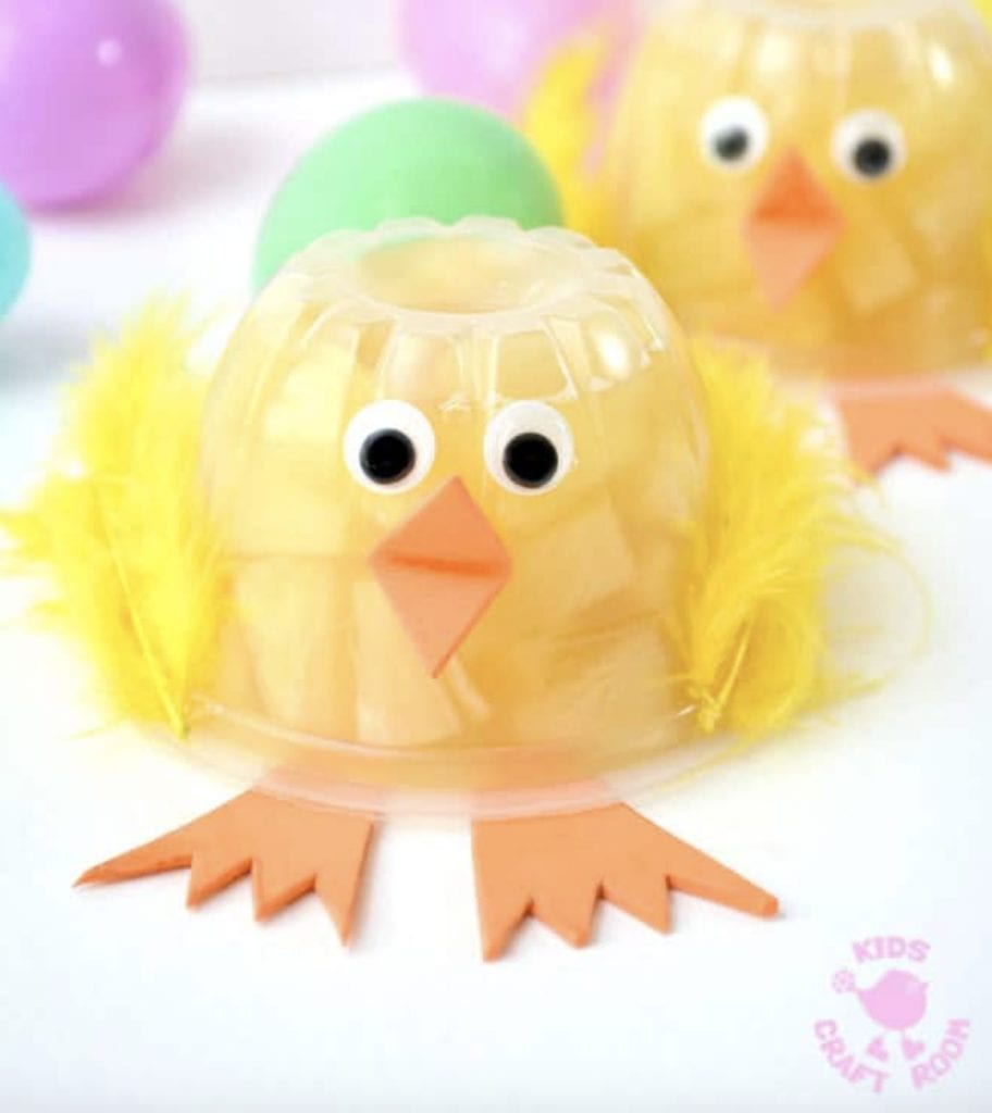 Fruit cup chick is a healthy easter treat