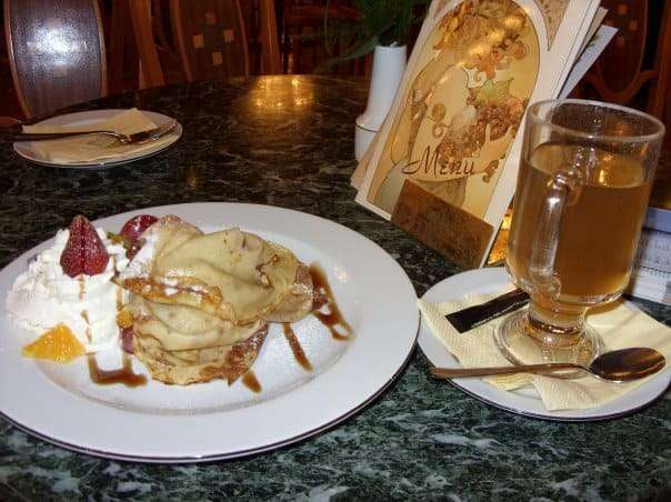 Palacinky at the Municipal House Cafe in Prague