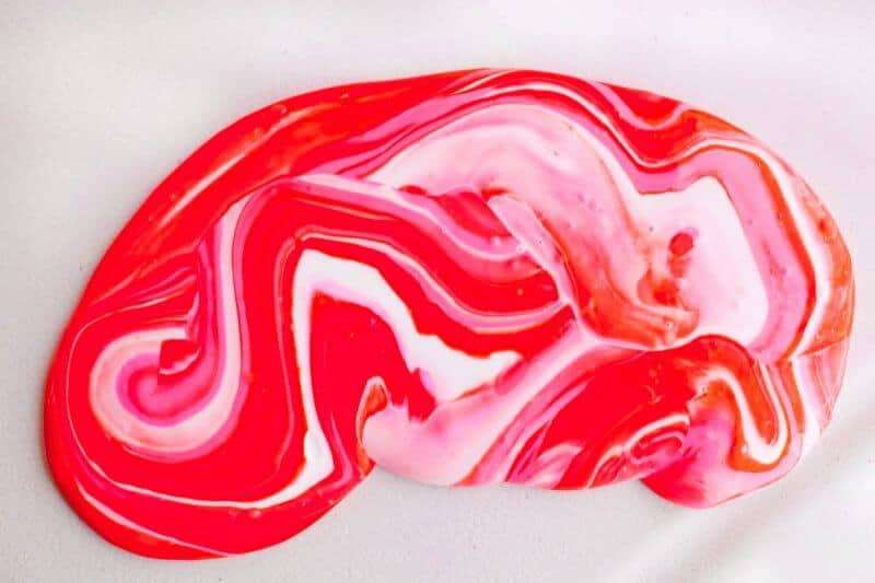 pink and white slime