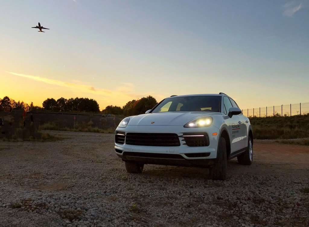 Porsche Experience Center - off road with the Cayenne