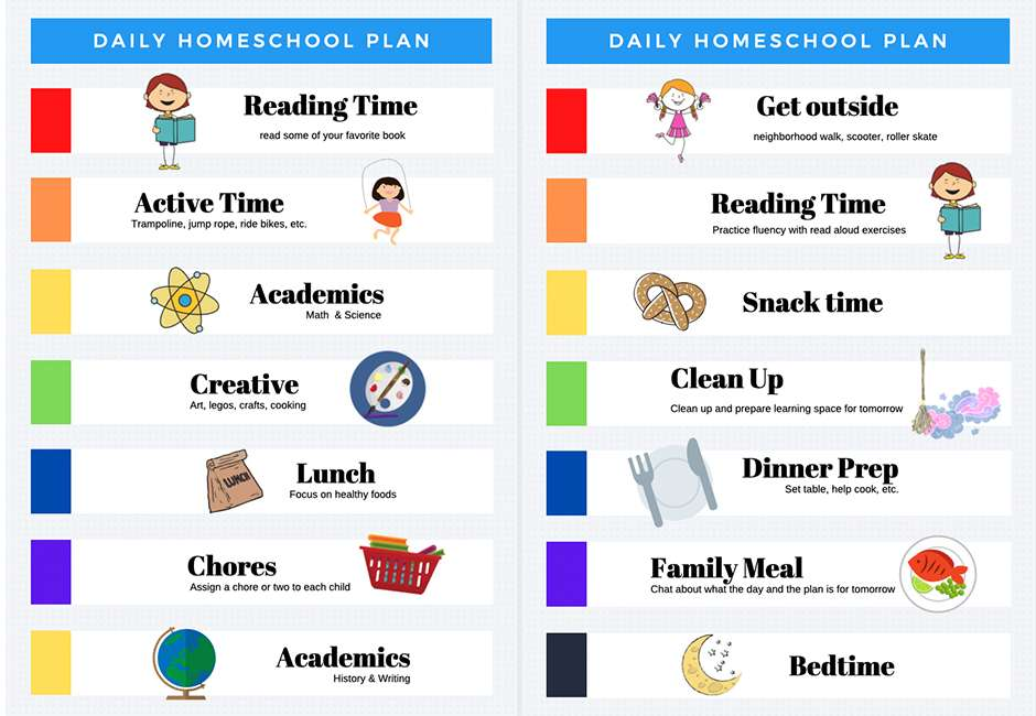 easy homeschool schedule template